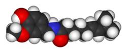 3D model of capsaicin