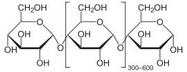 molecule of amylose from starch