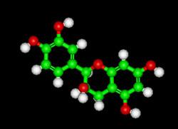 epicatechin molecule in chocolate