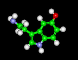 serotonnin molecule in chocolate