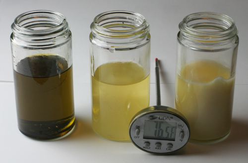 comparison of duck fat, butter and olive oil