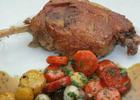 duck confit slow cooked