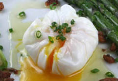 egg poached in plastic wrap
