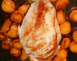 chicken sauteed with maillard reaction