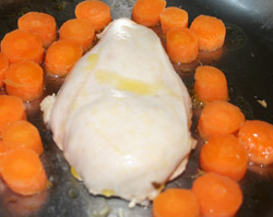 chicken steamed - temperature too low for maillard reaction