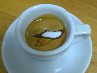 sugar test for perfect espresso