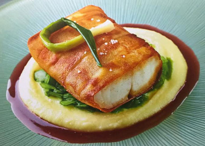 sea bass with barolo wine sauce - recipe of Daniel Boulud